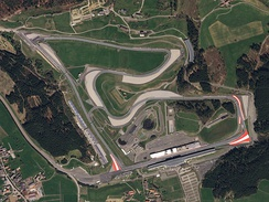 Satellite view of the Red Bull Ring in 2018