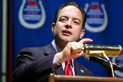 Chairman of the Republican National Committee Reince Priebus at the Western Republican Leadership Conference in October 2011 in Las Vegas