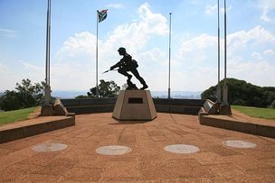 A statue commemorating all South African Defence Force personnel who had lost their lives in service of the Republic of South Africa in Fort Klapperkop, Pretoria