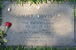 Grave of Sammy Davis Jr. in the Garden of Honor, Forest Lawn Glendale