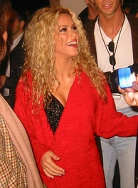 Shakira before entering the stage to her Tour of the Mongoose (2003)