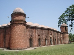 Sixty Dome Mosque in Mosque city of Bagerhat was built in the 15th century and is the largest historical mosque in Bangladesh, as well as a World Heritage site.