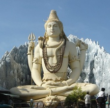 A statue of Shiva in yogic meditation
