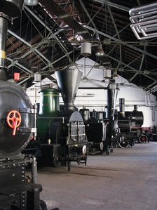 Interior of the Slovenian Railway Museum