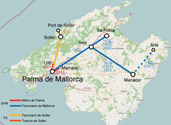 Mallorca current rail map