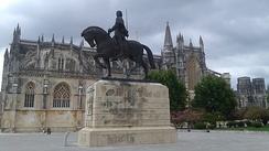 Statue of Nuno Álvares Pereira on horseback in Batalha