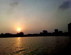 Sunset at Hatirjheel