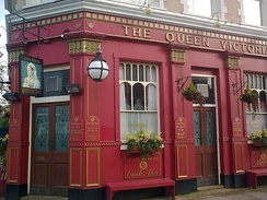 The fictitious Queen Victoria pub, EastEnders, London