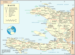 An enlargeable map of the Republic of Haiti