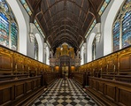 The interior of the chapel of University College, Oxford.