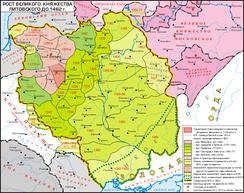 Рост Великого Княжества Литовского до 1462 года