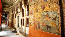 A decorated wall of the Catholicon, Vatopedi monastery.