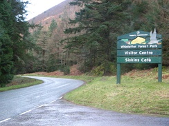 The entrance to Whinlatter Forest Park