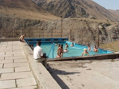 A swimming pool at the Ysyk-Ata resort