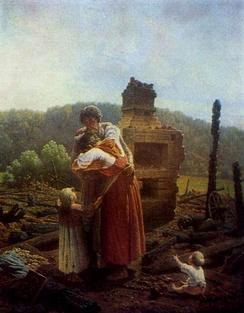 Протопопов А. Ф. Погорельцы. (1883)