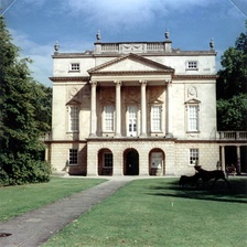 A photo of the Holburne Museum of Art, Bath, taken with 126 film and illustrating the square format.