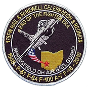 178th Fighter Wing Retirement patch, 2010