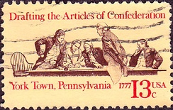 Articles of Confederation 200th Anniversary commemorative stamp.First issued in York, Pennsylvania., 1977