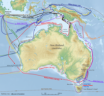 Australia (Nova Hollandia) was the last human-inhabited continent to be explored and mapped (by non-natives). The Dutch were the first to undisputedly explore and map Australia's coastline. In the 17th century, the VOC's navigators and explorers charted almost three-quarters of the Australian coastline, except the east coast.