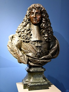 Bronze bust of Louis XIV. Circa 1660, by an unknown artist. From Paris, France. The Victoria and Albert Museum, London.