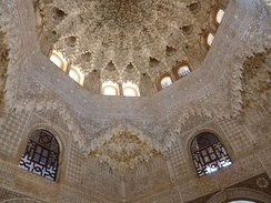 Moorish ceiling in Alhambra, Granada