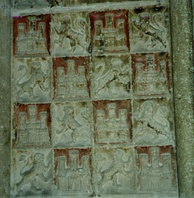 Symbols of Castile and León in the cathedral of Burgos.