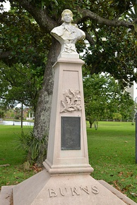 Statue in Confederate Park, by the Robert Burns Association of Jacksonville, Florida