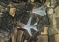 Two Dassault Mirage G prototypes, one with wings swept
