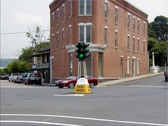 Historic dummy light in Canajoharie, New York, United States