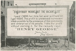 1914 billboard citing Henry George in Rockford, Illinois
