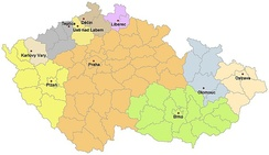 Jewish communities associated under the Federation of Jewish communities and their administration within the Czech Republic, 2008