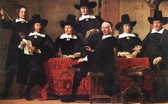 Merchants have sought methods to minimize risks since early times. Pictured, Governors of the Wine Merchant's Guild by Ferdinand Bol, c. 1680.