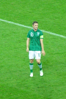Keane during a match against Spain at Euro 2012