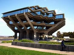 "University of California, San Diego's Geisel Library, named for Theodor Seuss Geisel (""Dr. Seuss"")"