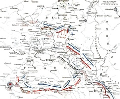 German and Allied positions, 23 August – 5 September 1914