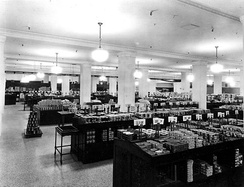 Grocery department in basement of T. Eaton's company, Calgary, Alberta, Canada (1929)