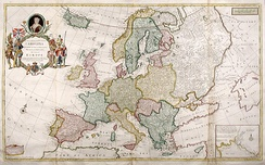 After the Peace of Westphalia, Europe's borders were still stable in 1708