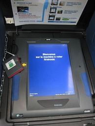 Some French cities used voting machines.