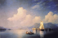 """Lake Maggiore in the Evening"", Ivan Aivazovsky, 1858"