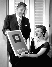 In 1954, James Conkling, president of Columbia Records, presented Stafford with a diamond-studded plaque to mark the sale of 25 million of her records.