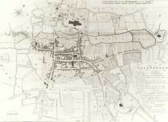 Map of Lichfield in 1781