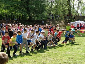 A children's cross country competition in Croatia