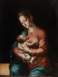 A Luis de Morales painting Mother and Child