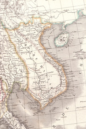 Dai Nam Empire over Indochina in 1839