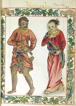 A Tagalog royal couple (maginoo), from the Boxer Codex (c. 1590)