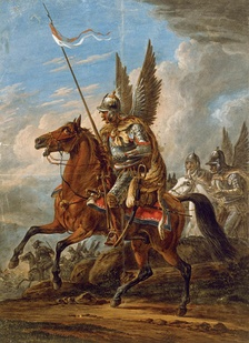 Polish Winged Hussar, painting by Aleksander Orłowski