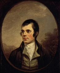 Robert Burns in Alexander Nasmyth's portrait of 1787