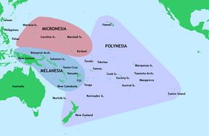 Regions, island nations and territories of Oceania