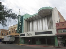 Though the facility has been closed since 1999, the marquee of the Plaza Theater in downtown Laredo has been renovated A citizens committee, including the restaurateur Danny Lopez, Jr., of the Danny's Restaurant chain, sought without success to establish a private-public partnership to reopen the Plaza as a live entertainment venue.[7] In 2018, the city council sought private entities, non-profit organizations, and an architect to make the facility useful again.