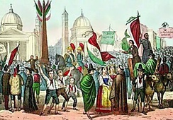 Proclamation of the Roman Republic in 1849, in Piazza del Popolo.